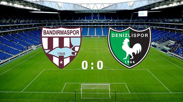 Bandırmaspor:0 - Denizlispor:0