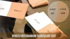 Denizli Referandum Sonuçları